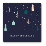 This is a blue custom sticker by Katy Shen called Tiny Christmas with standard printing on uncoated sticker paper in sticker.