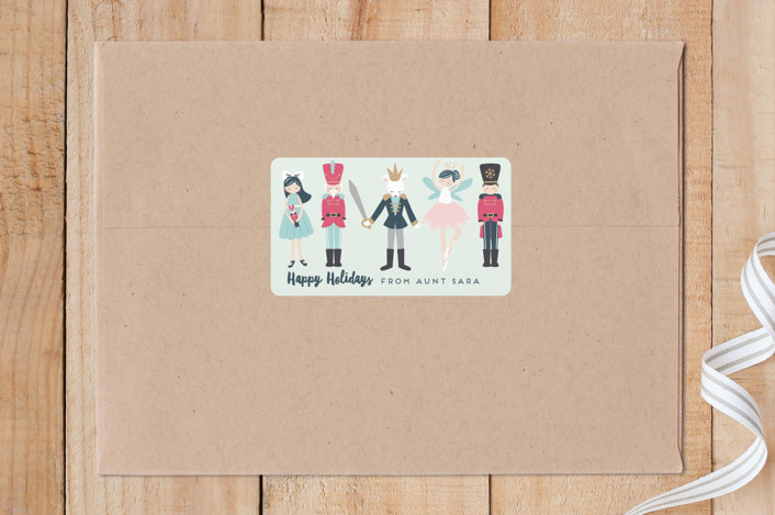 """""""nutcracker suite"""" - Whimsical & Funny Custom Stickers in Mint by peetie design."""