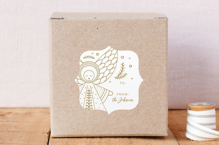"""Country Nativity"" - Custom Stickers in Golden by Dawn Jasper."