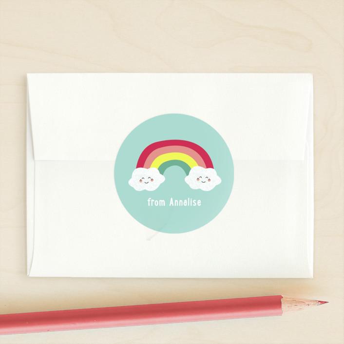 """""""Brighten My Day"""" - Custom Stickers in Mint by Erica Krystek."""