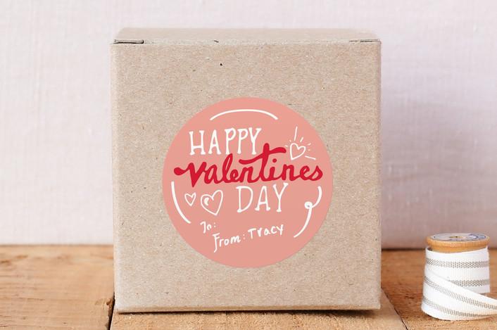 """Valentine's Day"" - Custom Stickers in Grapefruit by KirstenEva."