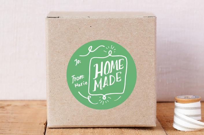 """Homemade"" - Custom Stickers in Sage by KirstenEva."
