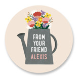 This is a pink custom sticker by Erica Krystek called Buds with standard printing on uncoated sticker paper in sticker.