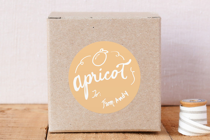 """Apricot"" - Custom Stickers in Apricot by KirstenEva."