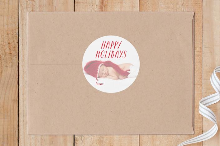 """Merry Overlay"" - Custom Stickers in Holly by Erin Niehenke."