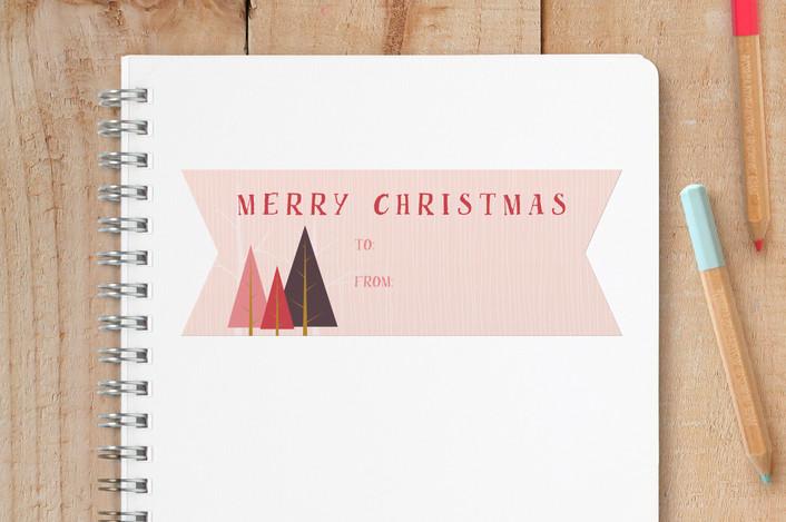 """Merry Trees"" - Custom Stickers in Blush by Erin Niehenke."