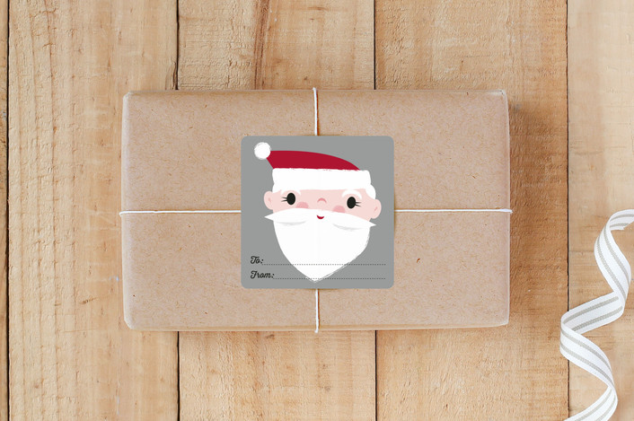 """""""Santa Gift Tag"""" - Custom Stickers in Silver Bell by Shannon Hays."""