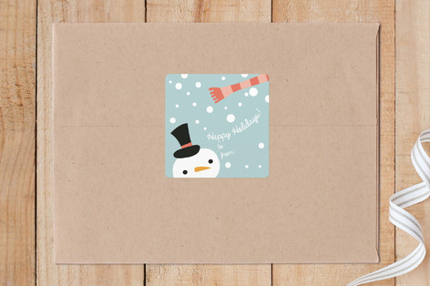 Snowy Snowman Custom Stickers
