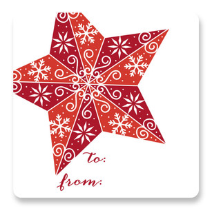 Stenciled Star Custom Stickers