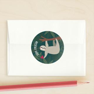 Sleepy Sloth Custom Stickers