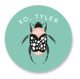This is a green custom sticker by Alethea and Ruth called You Don't Bug Me with standard printing on uncoated sticker paper in sticker.