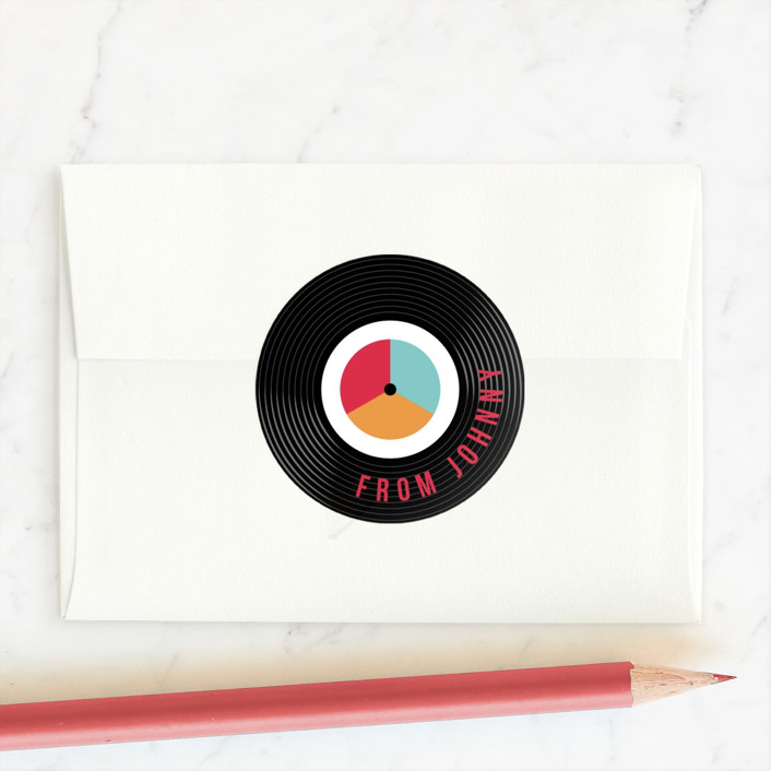 """""""For the Record"""" - Custom Stickers in Retro by Robert and Stella."""