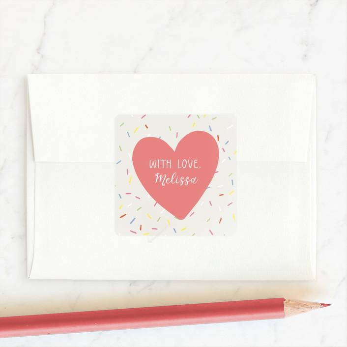 """Sweet valentine"" - Custom Stickers in Cotton Candy by Juliana Zimmermann."
