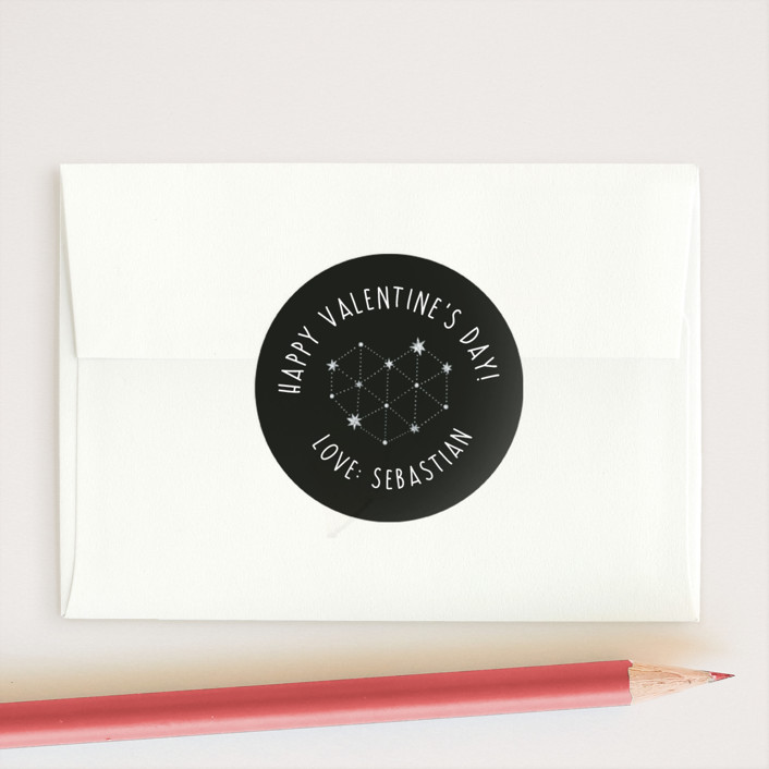 """In Orbit"" - Custom Stickers in Charcoal by Fig and Cotton."