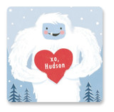 This is a blue custom sticker by Karidy Walker called Yeti or Not with standard printing on uncoated sticker paper in sticker.