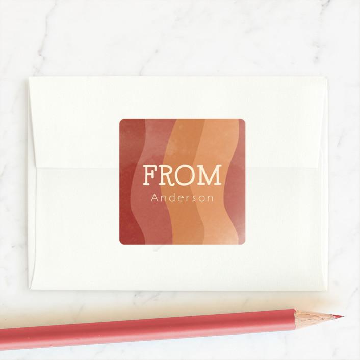 """""""Bacon my heart"""" - Custom Stickers in Cream by Mayflower Press."""