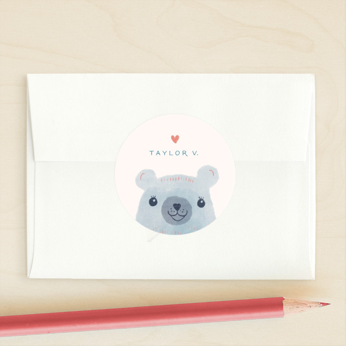 """The Beary Best"" - Custom Stickers in Acai by Ashley DeMeyere."