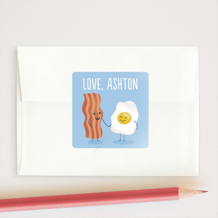 """Egg-cellent friend"" - Custom Stickers in Sky by Jana Volfova."