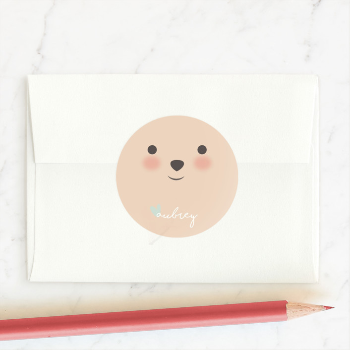 """I Like The Way You Roll"" - Custom Stickers in Soft Cyan by Angela Garrick."