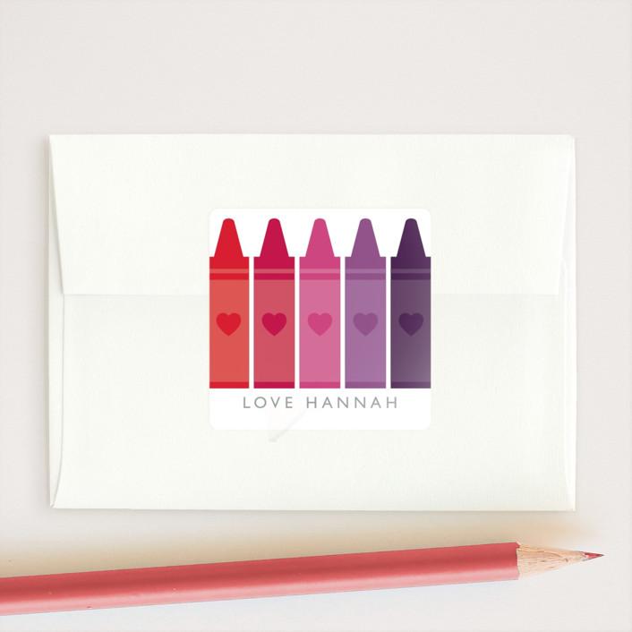 """""""Colorful"""" - Custom Stickers in Rainbow by Caitlin Considine."""