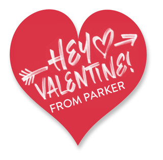 Hey Valentine Custom Stickers