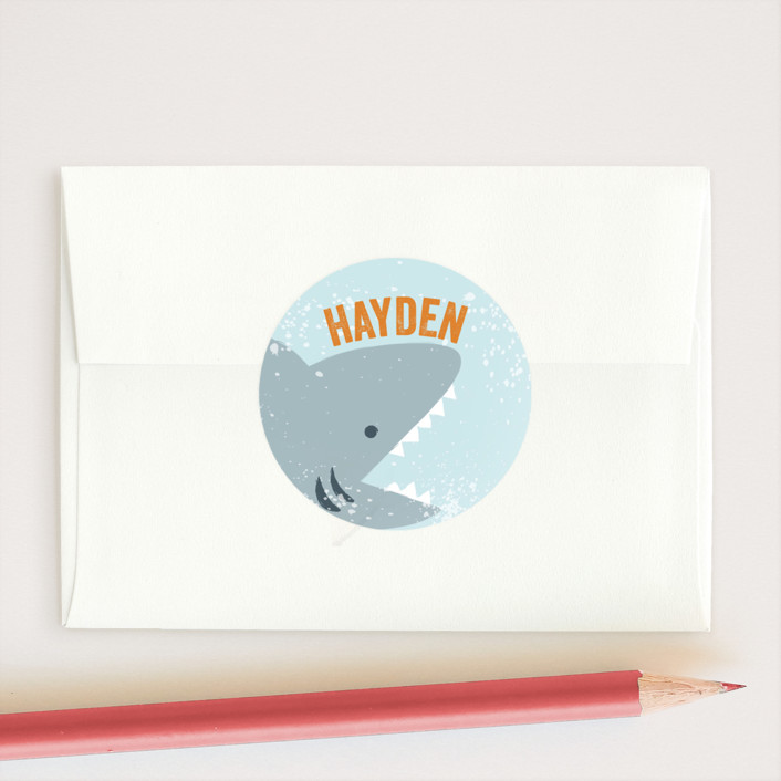 """""""Jawsome"""" - Custom Stickers in Citrus by Laura Hankins."""