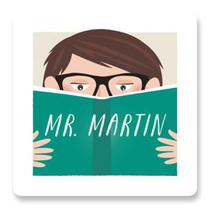 Mr Bookworm Custom Stickers