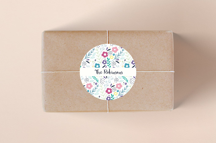 """""""Sweet Arrivals"""" - Whimsical & Funny Custom Stickers in Cream by Rebecca Humphreys."""