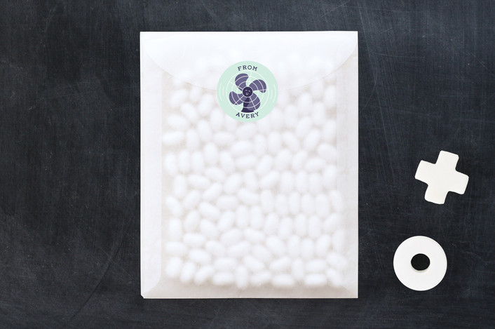 """""""Fan"""" - Custom Stickers in Eggplant by Gwen Bedat."""