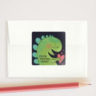 Dino-Mite Valentine Custom Stickers