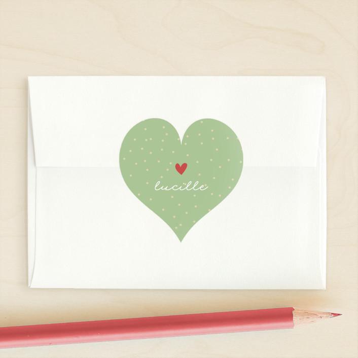"""Valentine Cutie"" - Custom Stickers in Pink Lemonade by Pixel and Hank."