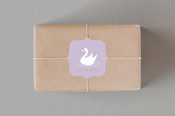 """""""Seven Swans Swimmin"""" - Custom Stickers in Ballet Slipper by Itsy Belle Studio."""