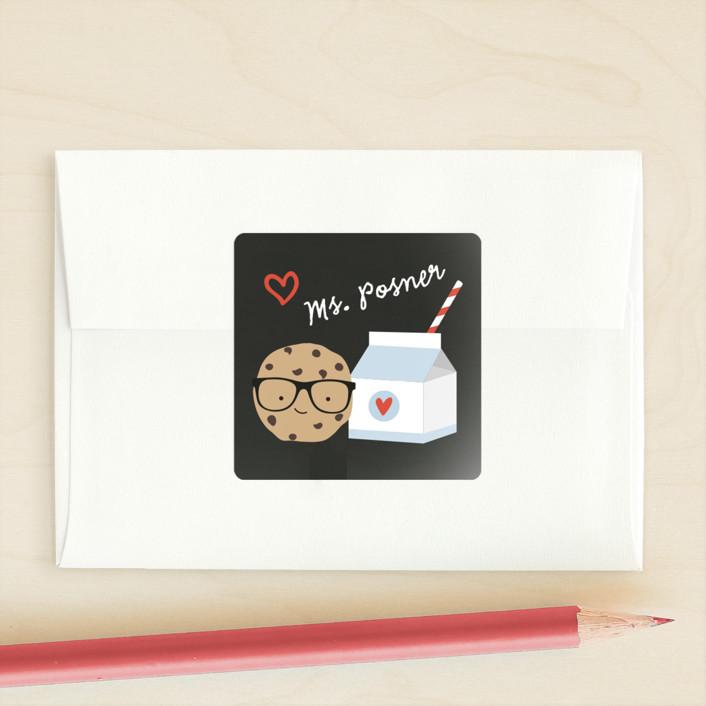 """Smart Cookie"" - Custom Stickers in Chalkboard by Anne Holmquist."