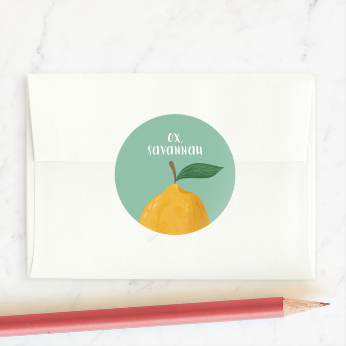 """""""The Zest"""" - Custom Stickers in Torquoise by Cindy Reynolds."""
