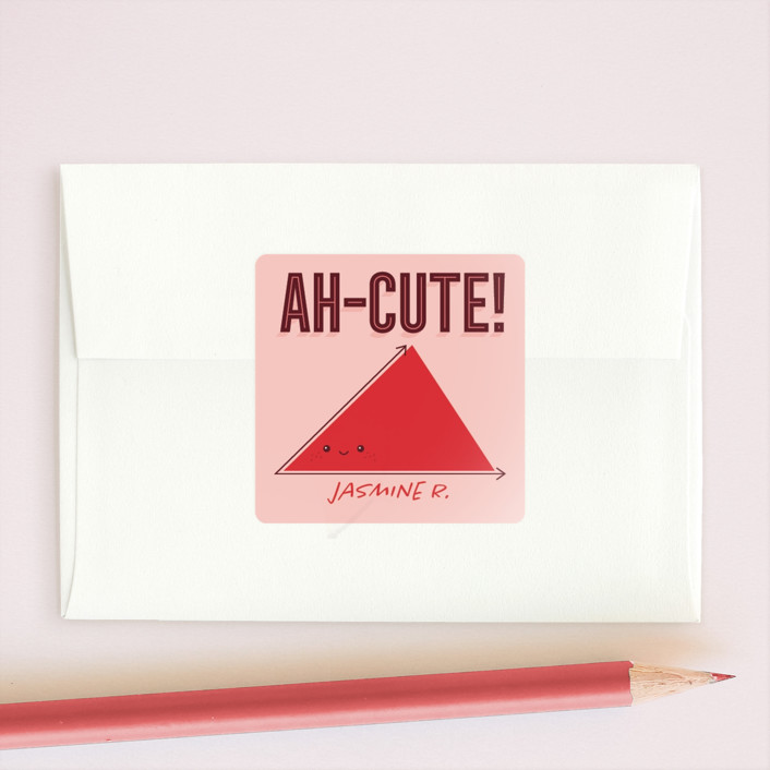 """""""Too Ah-Cute"""" - Custom Stickers in Berry by Loree Mayer."""