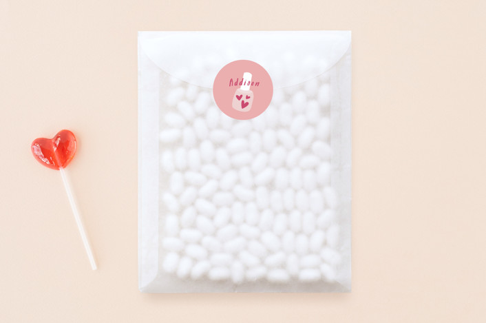 """Nailing It"" - Hand Drawn, Funny Custom Stickers in Bubblegum by Laura Hankins."