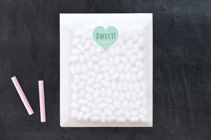"""Sweetest"" - Custom Stickers in Mint by Leah Bisch."
