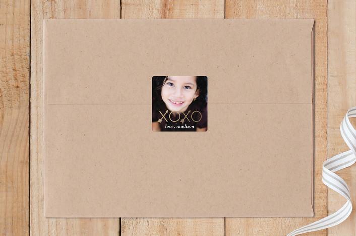 """""""XO Arrow"""" - Custom Stickers in Golden by Lauren Chism."""