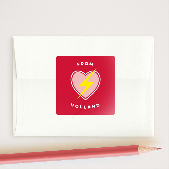"""Super Friend"" - Preppy Custom Stickers in Crimson by Lehan Veenker."