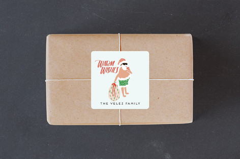 Warm Weather Holiday Custom Stickers