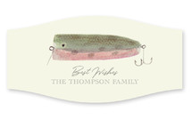 This is a beige custom sticker by Jessie Burch called Vintage Fishing Lures with standard printing on uncoated sticker paper in sticker.