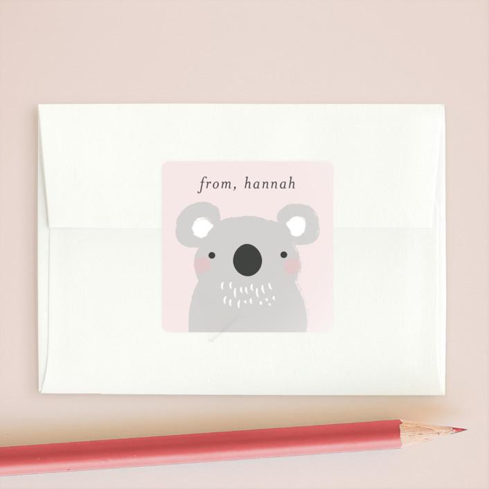 """""""Koalafied"""" - Custom Stickers in Aqua by Itsy Belle Studio."""