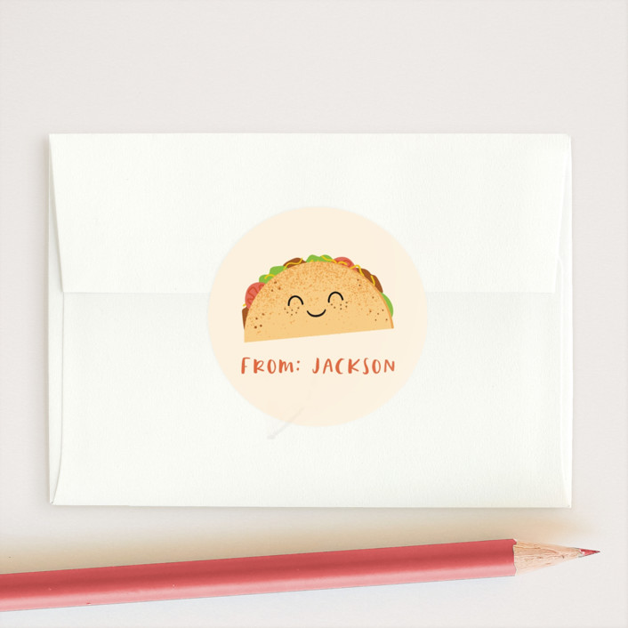 """""""Fillings for you"""" - Custom Stickers in Queso by Annie Holmquist."""