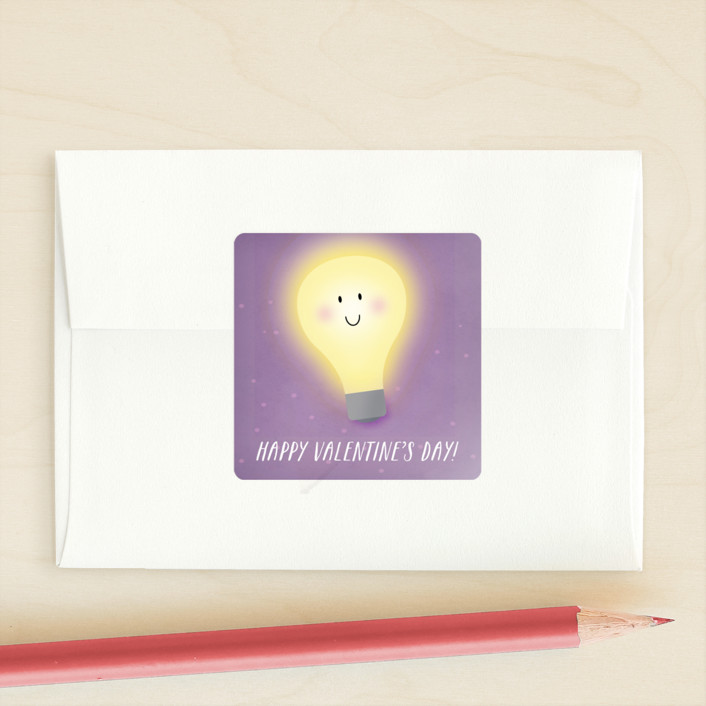 """""""Light Up The Room"""" - Custom Stickers in Lilac by Keen Peachy."""