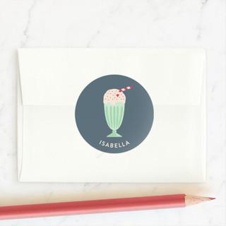 Ice Cream Sundae Custom Stickers