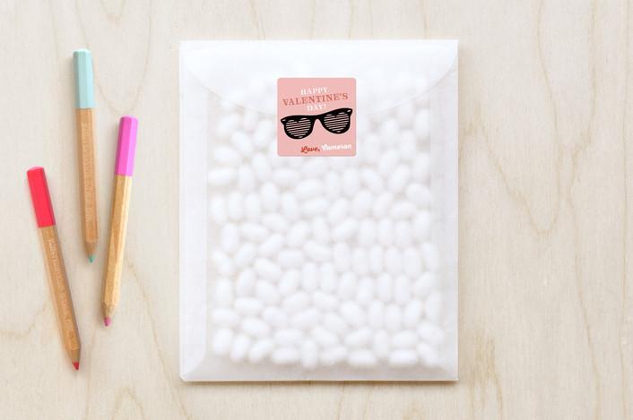 """Super Cool"" - Custom Stickers in Bubblegum by Shirley Lin Schneider."