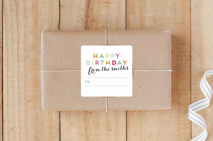 """Birthday Snap"" - Preppy Custom Stickers in Cupcake by Lori Wemple."