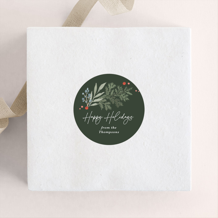 """Evergreens2"" - Custom Stickers in Evergreen by Kristen Smith."