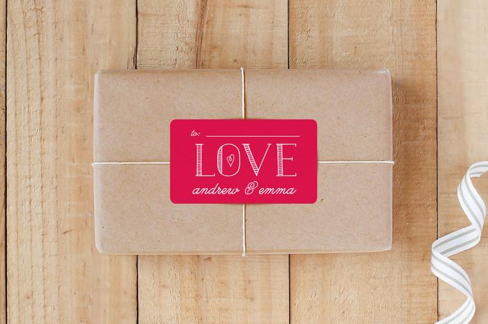 """Bold Love"" - Custom Stickers in Poppy by Christina Novak."