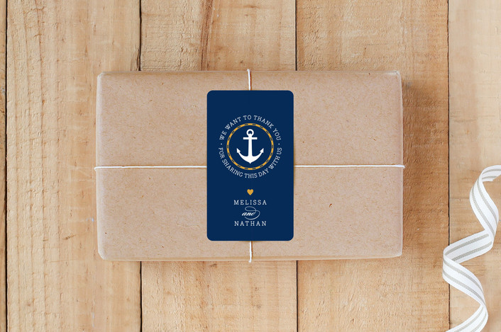 """Nautical"" - Custom Stickers in Navy by Jill Means."